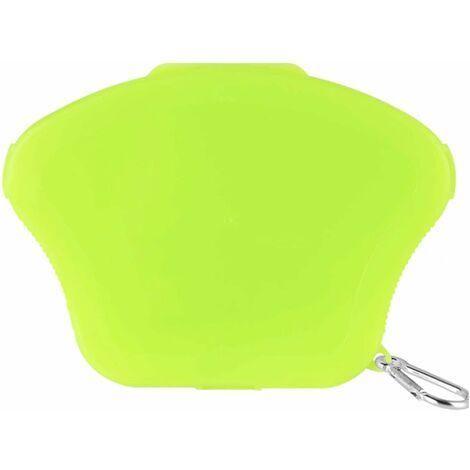 Caja de máscara 1 pieza Caja de almacenamiento de máscara portátil Bolsa de almacenamiento de máscara Caja de máscara para protector bucal (verde luminoso)