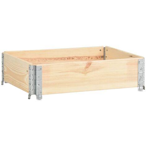 Caja de palés de madera maciza de pino 60x80 cm