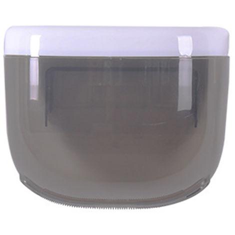 Caja de panuelos ovalada de pared con estantes, negra,S