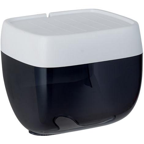 Caja de pa?uelos de ba?o de pared, caja de servilletas, S, negro