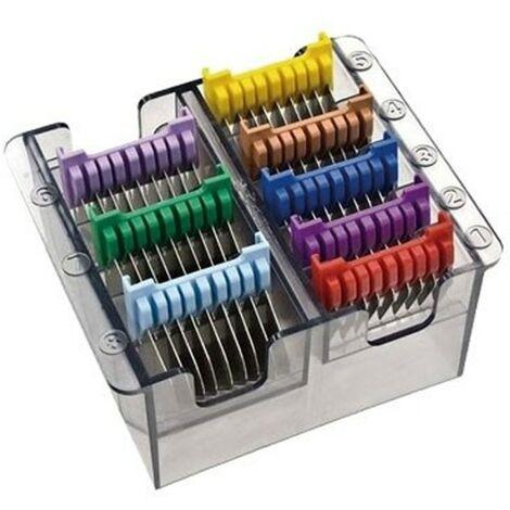 Caja de peines metálicos Moser   Caja de peines para máquina cortapelos Moser 1170 y Arco   Caja de peines para máquina de pelar