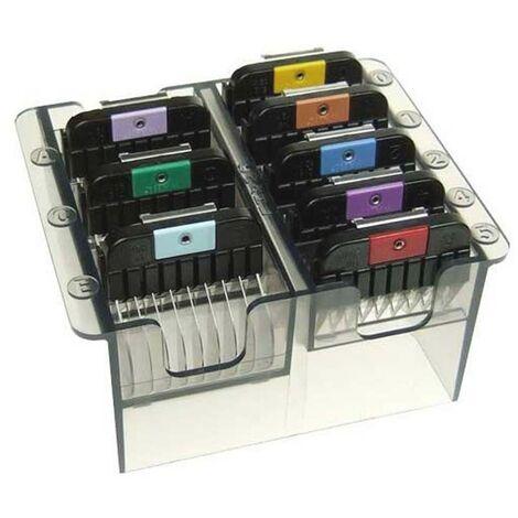 Caja de peines metálicos Moser   Caja de peines para máquina cortapelos Moser Max45 y Max50   Caja de peines para máquina de pelar
