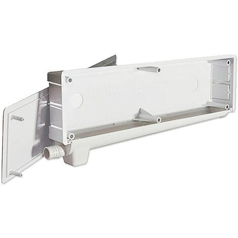 Caja de preinstalación de aire acondicionado con desagüe bidireccional y sifón - Blanco