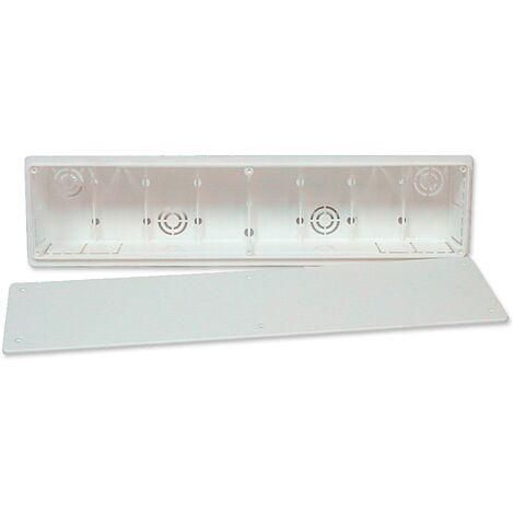 Caja de preinstalación de aire acondicionado sin desagüe muro 65 mm - Blanco