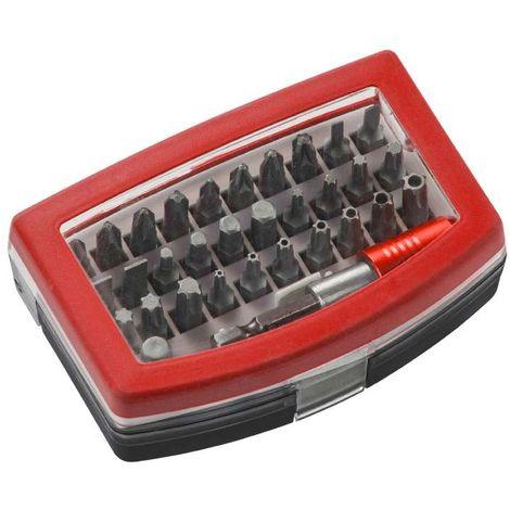 Caja de puntas de 32 piezas, acero al cromo-vanadio KWB