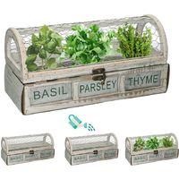 Caja de semillas 30x12,5x15cm con perejil, albahaca y tomillo