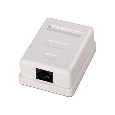 Caja de superficie de 1 RJ45 Cat 6 UTP Blanco