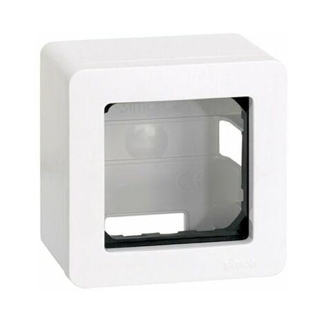 Caja de superficie para 1 elemento Simon 27 Play Blanco