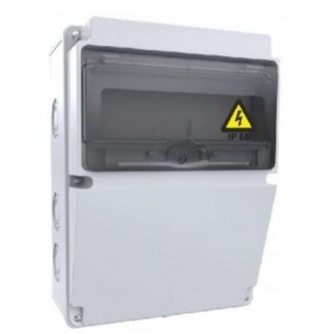 Caja de tomas de corriente 10 módulos 220x300x120mm ABS libre de halógenos IP66