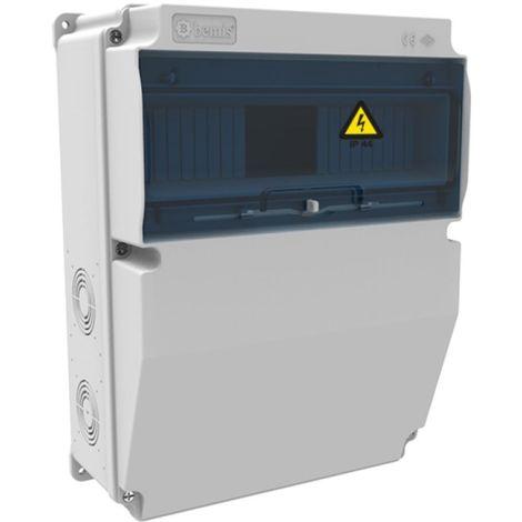 Caja de tomas de corriente 12 módulos 245x325x128mm ABS libre de halógenos IP66