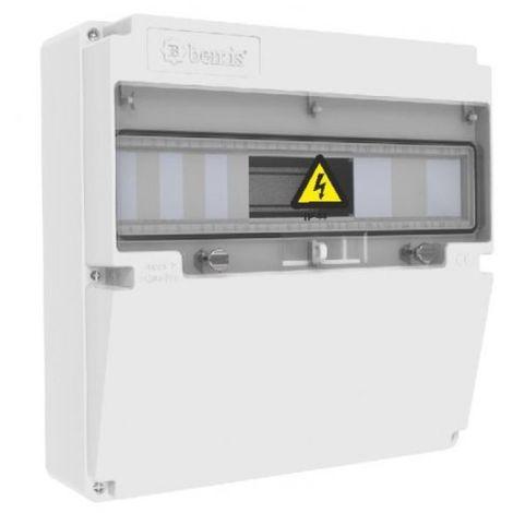 Caja de tomas de corriente 17 módulos 340x340x140mm ABS libre de halógenos IP44