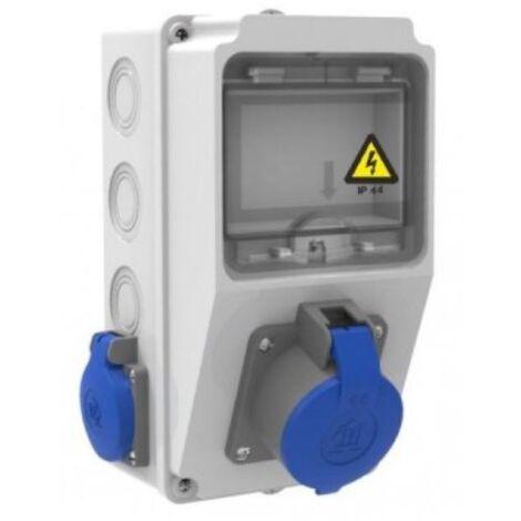"""main image of """"Caja de tomas de corriente 5 módulos IP44 con bases 2 de 16A 2P+T y 1 de 16A 2P+T"""""""