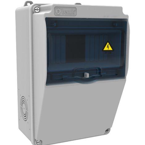 Caja de tomas de corriente 7 módulos 155x255x138mm ABS libre de halógenos IP44
