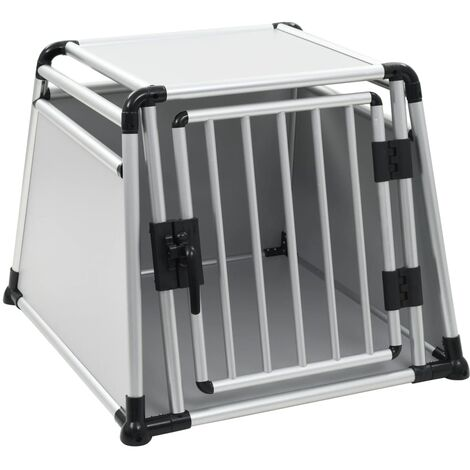Caja de transporte de aluminio para perros L