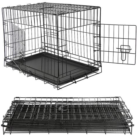 Caja de transporte para perros plegable Jaula de alambre Caja de transporte para perros Caja de rejilla Jaula para perros