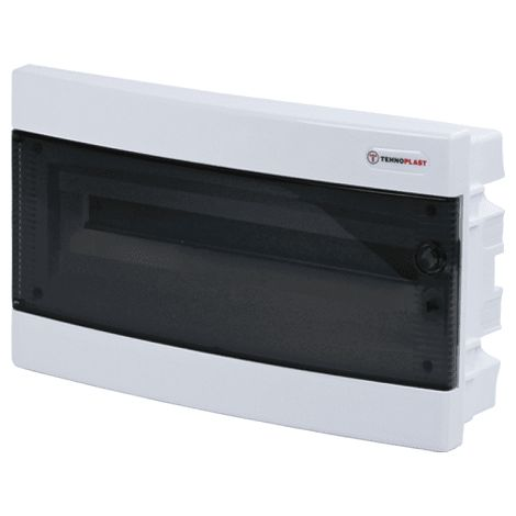 Caja distribucion electrica empotrable IP30 de 18 modulos Blanco