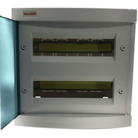 Caja distribucion electrica empotrable IP30 de 24 modulos Blanco