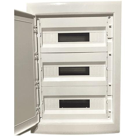 Caja distribucion electrica empotrable IP30 de 54 modulos Blanco