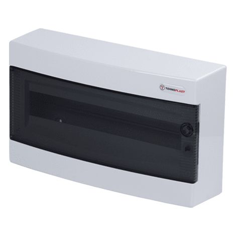 Caja distribucion electrica Superficie IP30 de 18 modulos Blanco