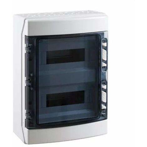 Caja distribucion electrica superficie IP65 de 24 modulos Blanco