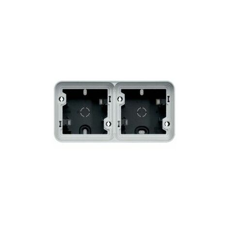 Caja doble Componible de superfcicie estanco HAGER Cubyko WNA682 IP55