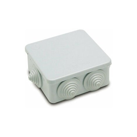 Caja Electricidad Estanca 100X100X45 Con Conos Abs Gris Famat