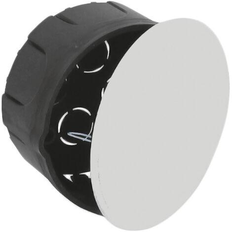 Caja empalme y derivación redonda de empotrar con tapa y garra metálica 100x50mm. (Solera 515)
