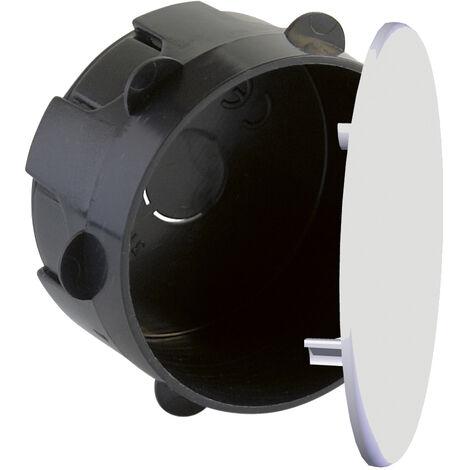 Caja empalme y derivación redonda de empotrar con tapa y garra plástica 60x40mm. (Solera 513)