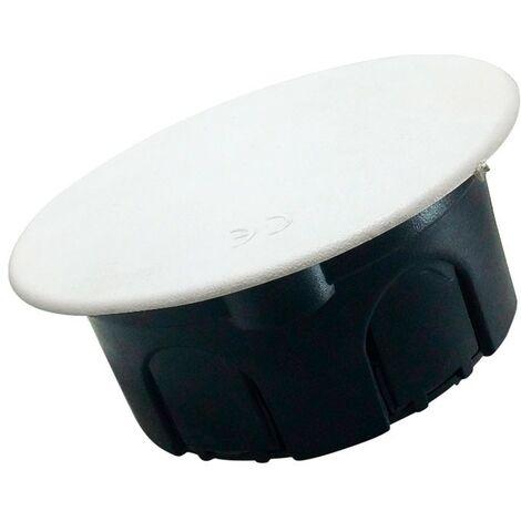 Caja empotrable Ø80x40 tapa con garra metálica