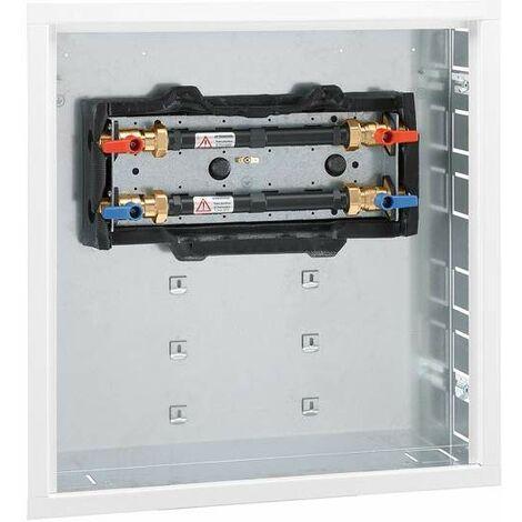 """Caja empotrada con placa posterior galvanizada y puerta Caleffi 700105   3/4"""""""
