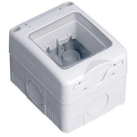 Caja estanca 2 modulos superficie IP 55 - Blanco