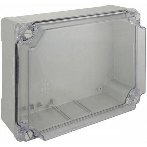 Caja estanca 310x240x125 tornillo roscado paredes lisas y tapa transparente SOLERA 100887TP