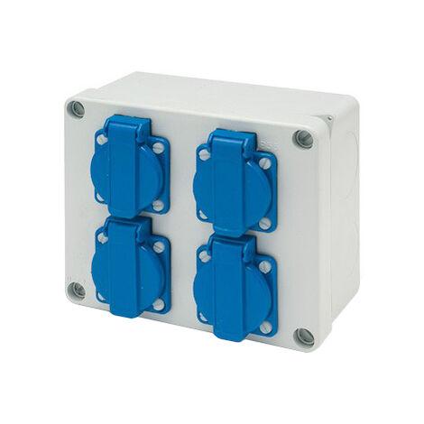 Caja estanca cetac de 4 bases 2P+TTL IP44 (Famatel 3065)