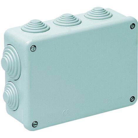 Caja estanca rectangular con conos 153x110x55mm. Tornillos metálicos autorroscantes (Solera 616)
