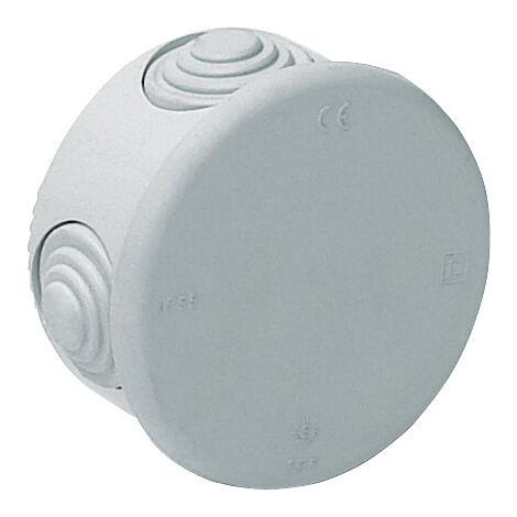 Caja estanca redonda con conos con tapa a presión 77x40xmm. (Solera 665)