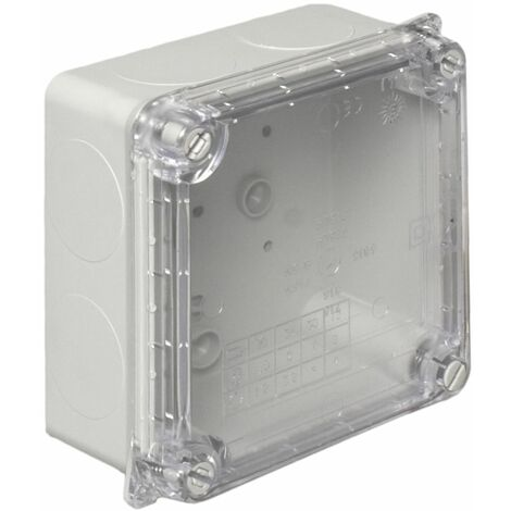 Caja estanca tapa transparente 100x100x55mm. Tornillos 1/4 vuelta (Solera 6815)