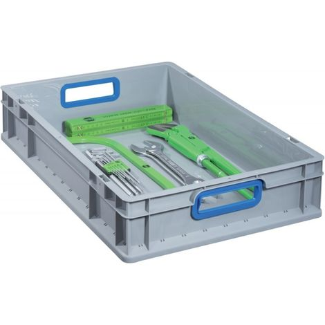"""main image of """"Caja EuroBox 632,600x400x320mmabrir ,gris/azul"""""""