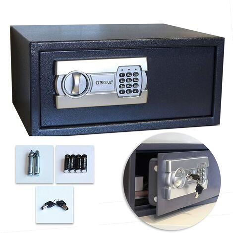 Caja fuerte digital para oficina o uso doméstico, para montaje en pared o suelo (200x430x350 mm)