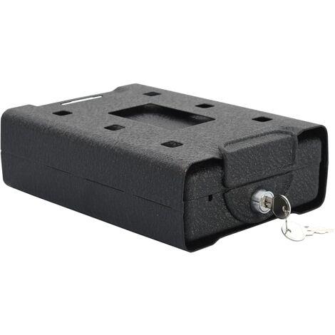 Caja fuerte para coche de acero negro 21,8x16x7 cm