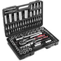 Caja herramientas 108 piezas maletin con llaves de vaso y herramientas -GREENCUT
