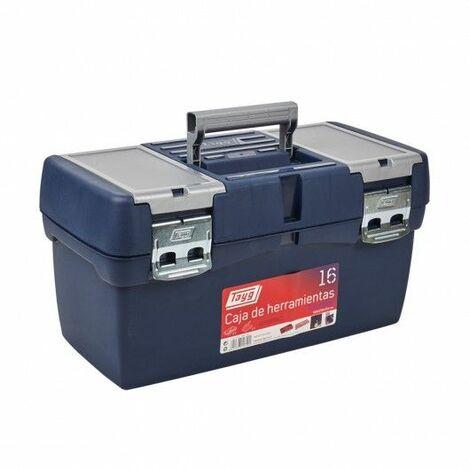 Caja Herramientas 500X258X255Mm Bandeja/Estuche Metal Polipropileno Azul Nº16 Tayg