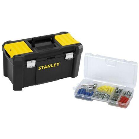Caja Herramientas Cierres Metalicos 48X25X25Cm Plastico Stanley
