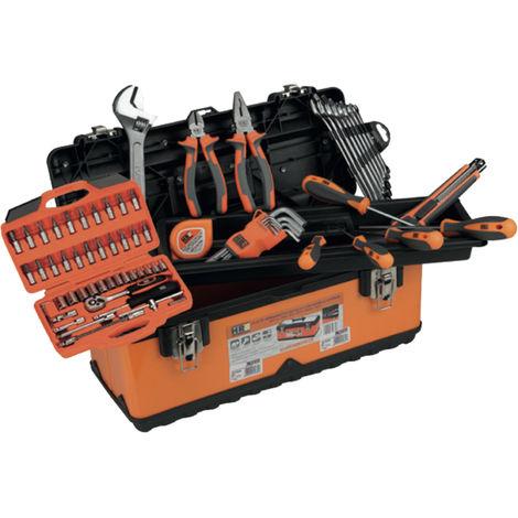 Caja herramientas metálica con 80 piezas HR 170787 510X285X250MM