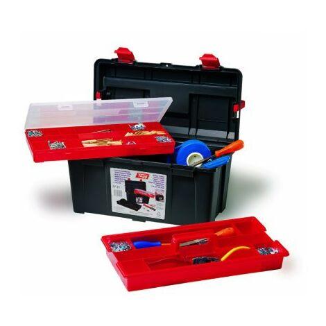 Caja de herramientas negra y roja