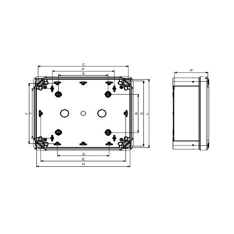Schneider Electric NSYTBS191610H Caja ABS IP 66 IK 07 Int.Al175 An150 L100 Ext.Al193 An164 L105 tapa opaca Al40