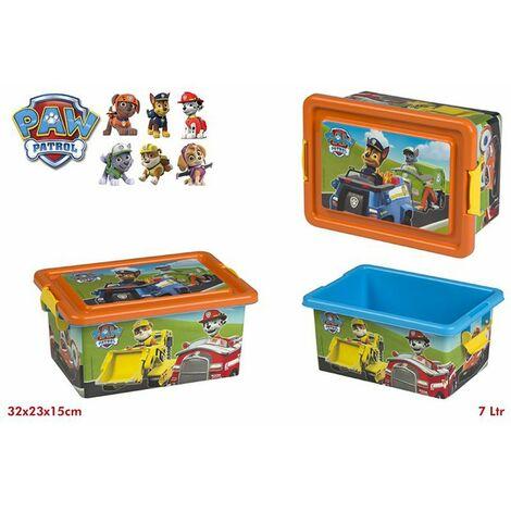 Caja infantil rectangular - La patrulla canina (32x23x15 cm)