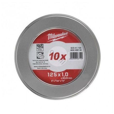 Caja metálica con 10 discos de 125mm para metal (NO INOX) 4932459164