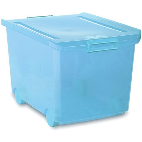 Caja Multiuso Con Rueda Turquesa 60 L - TATAY - 1150319