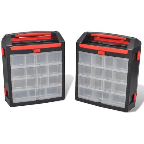 Caja organizador de herramientas, 2 unidades