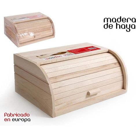 Caja Pan Persiana Madera 37,5x26,5x16cm Wooden